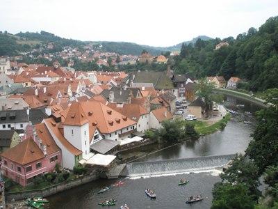 Чешский Крумлов и замок Глубока над Влтавой